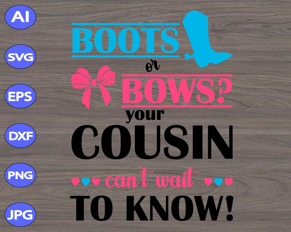 Boots or Bows Stencil