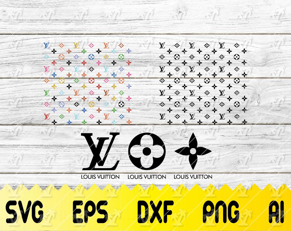 Louis Vuitton Svg Lv Bundle Brand Logo Svg Louis Vuitton Pattern Cricut File Silhouette Cameo Svg Png Eps Dxf Designbtf Com