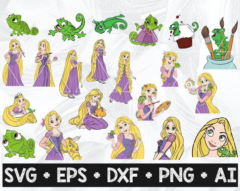 Rapunzel Svg Bundle Tangled Svg Rapunzel Clipart Tangled Clipart Png Cut Files For Cricut Disney Princess Svg Designbtf Com